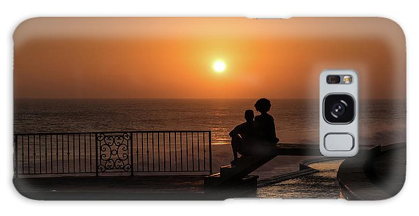 Sunset In Cerritos Galaxy Case