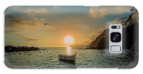 Sunset In Cinque Terre Galaxy Case