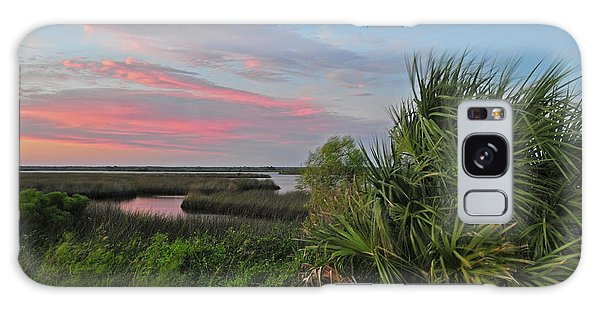 D32a-89 Sunset In Crystal River, Florida Photo Galaxy Case