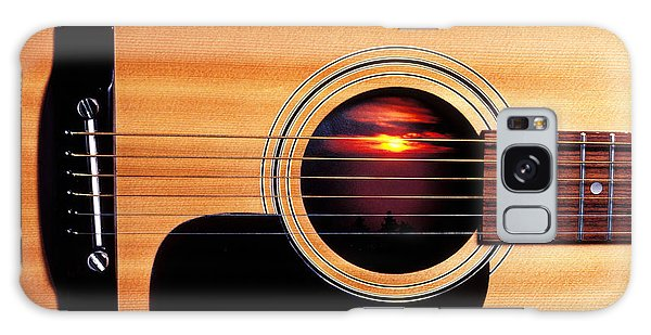 Sunset In Guitar Galaxy Case