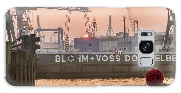 Sunset In Hamburg Port Germany Galaxy Case