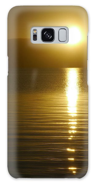 Sunset In January Galaxy Case