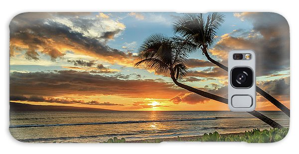 Sunset In Kaanapali Galaxy Case by James Eddy
