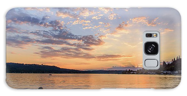 Sunset In Lake Sammamish Galaxy Case