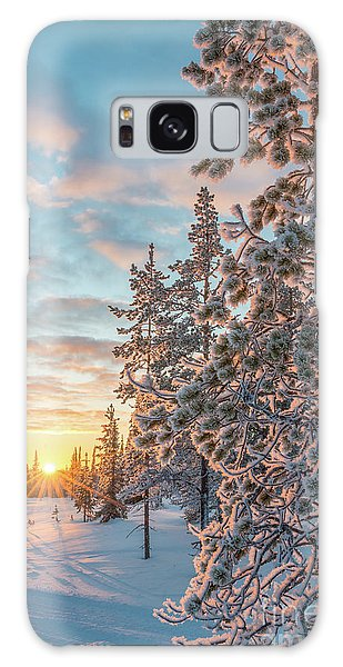 Sunset In Lapland Galaxy Case by Delphimages Photo Creations