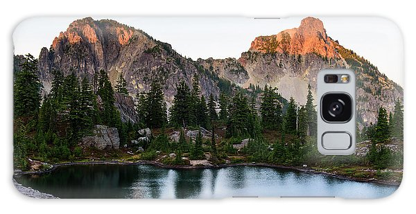 Sunset In Lila Lakes And High Box Mountain Galaxy Case
