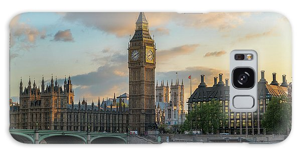 Sunset In London Westminster Galaxy Case