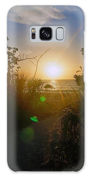 Sunset In Naples At Barefoot Beach Galaxy Case