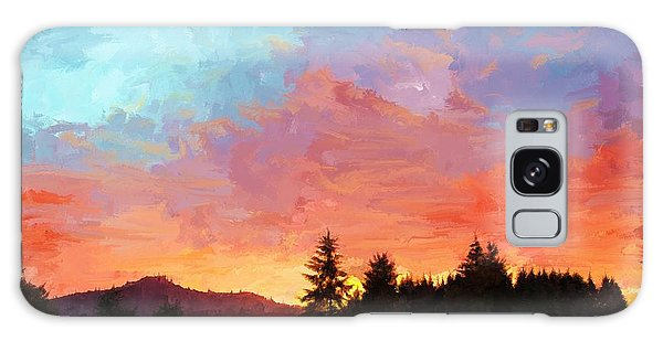 Sunset In Oregon Galaxy Case