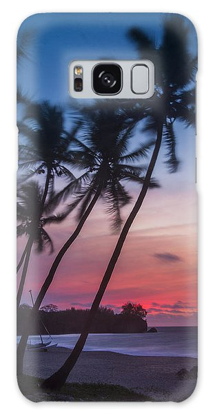 Sunset In Paradise Galaxy Case