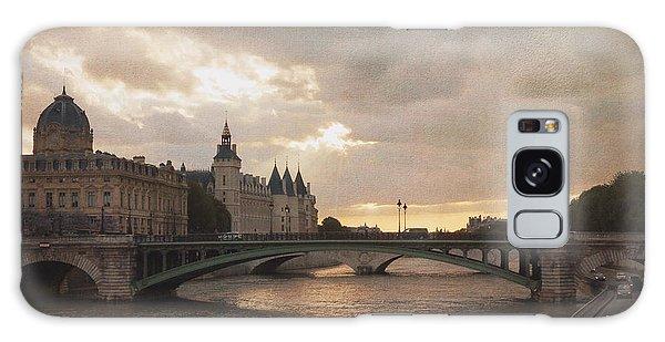 Sunset In Paris Galaxy Case