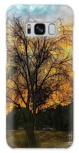Sunset In Perris Galaxy Case