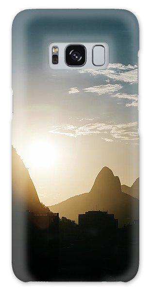 Sunset In Rio De Janeiro, Brazil Galaxy Case