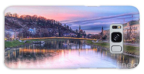 Sunset In Saltzburg Galaxy Case