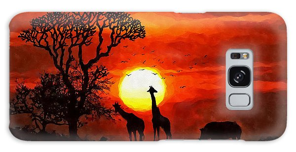 Sunset In Savannah Galaxy Case