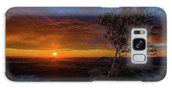 Sunset In Saxonian Switzerland Galaxy Case