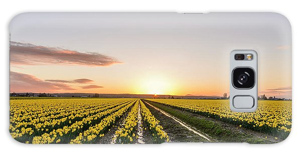 Sunset In Skagit Valley Galaxy Case