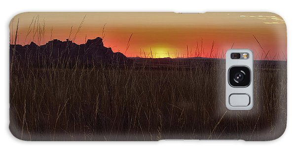 Sunset In The Badlands Galaxy Case