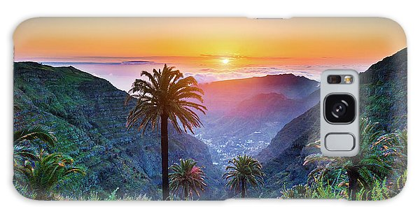 Sunset In The Canary Islands Galaxy Case by JR Photography