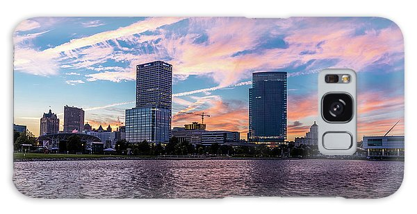 Galaxy Case featuring the photograph Sunset In The City by Randy Scherkenbach