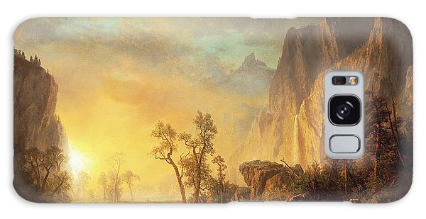 Evening Galaxy Case - Sunset In The Rockies by Albert Bierstadt