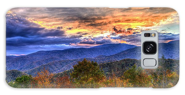 Sunset In The Smokies Galaxy Case