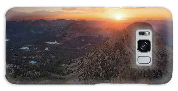 Sunset In The Uinta Mountains Galaxy Case