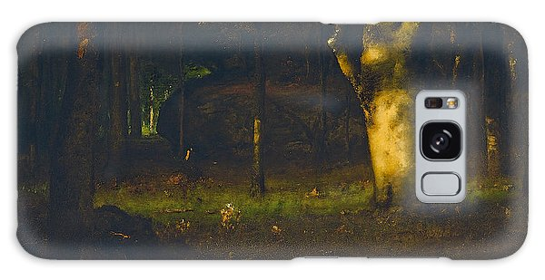 Breaking Dawn Galaxy Case - Sunset In The Woods by George Inness