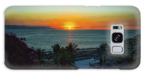 Sunset In Vallarta  ... Galaxy Case by Chuck Caramella
