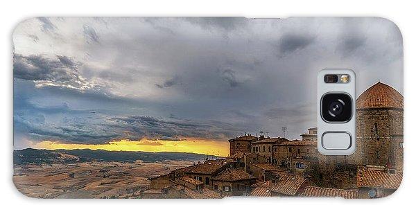 Sunset In Volterra Galaxy Case