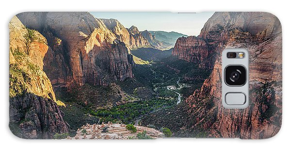 Sunset In Zion National Park Galaxy Case by JR Photography