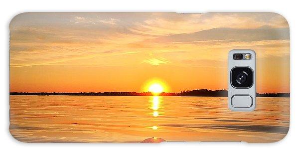 Ocean Sunset Galaxy S8 Case - Sunset Kayak 2 by Christine Sharp