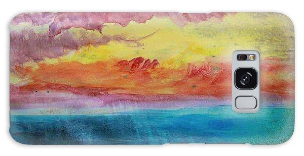 Sunset Lagoon Galaxy Case