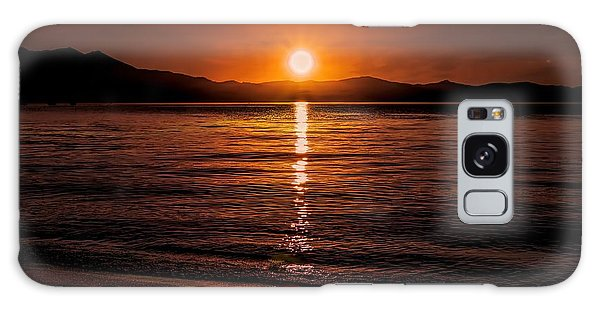 Sunset Lake 810pm Textured Galaxy Case