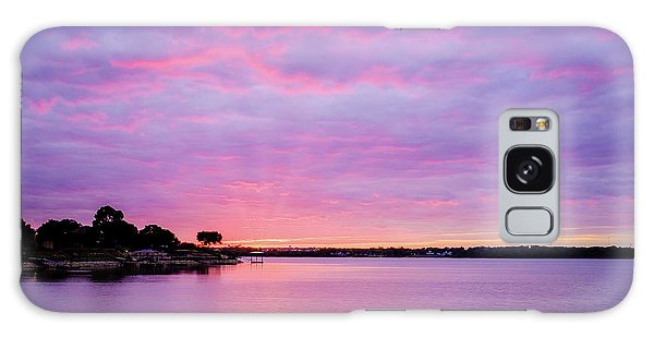 Sunset Lake Arlington Texas Galaxy Case
