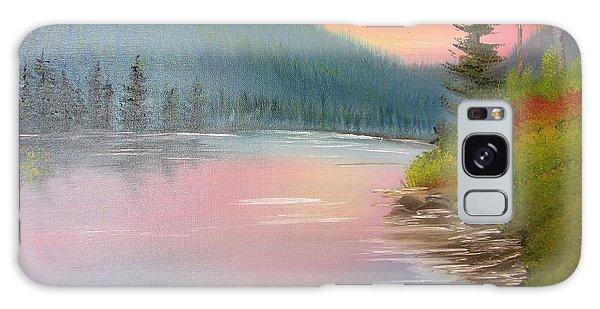 Sunset Lake Galaxy Case