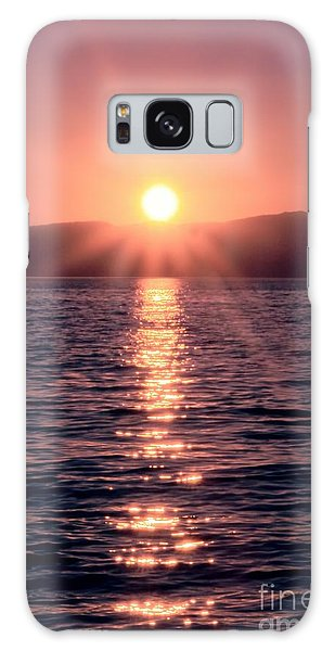 Sunset Lake Verticle Galaxy Case