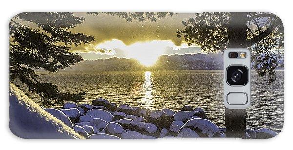 Sunset Light Lake Tahoe Galaxy Case