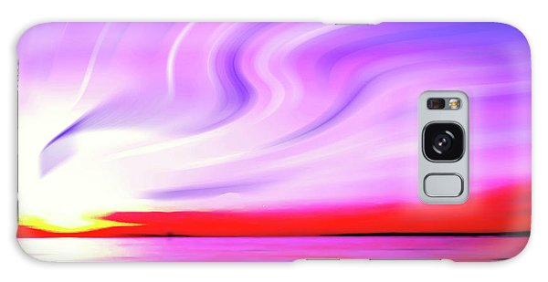 Sunset Light Painting At Edmonds Washington Waterfront Galaxy Case by Eddie Eastwood