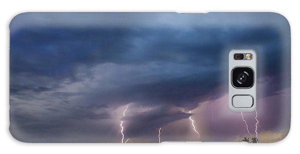 Sunset Lightning Galaxy Case