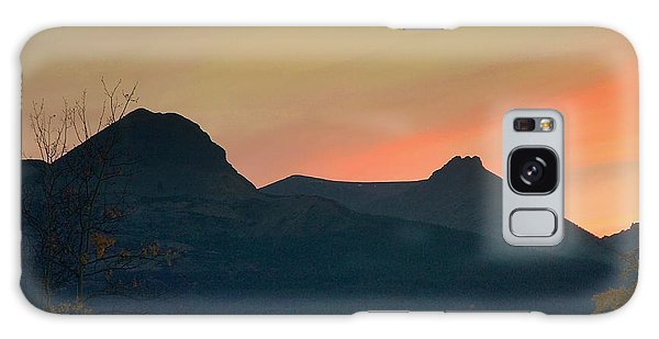 Sunset Mountain Silhouette Galaxy Case