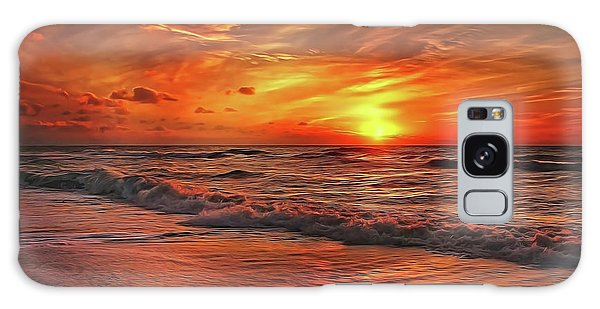Galaxy Case featuring the painting Sunset Ocean Dance by Harry Warrick