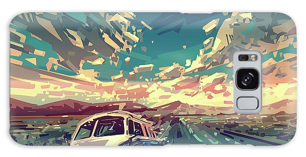 Sunset Oh The Road Galaxy Case by Bekim Art