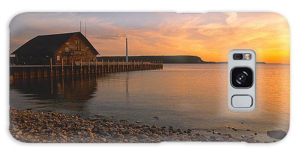 Sunset On Anderson's Dock - Door County Galaxy Case by Sandra Bronstein