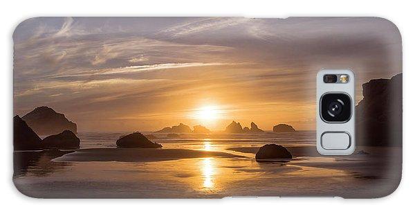 Sunset On Bandon Beach Galaxy Case
