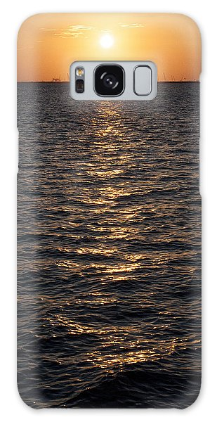 Sunset On Bay Galaxy Case