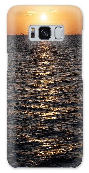Sunset On Bay Galaxy Case
