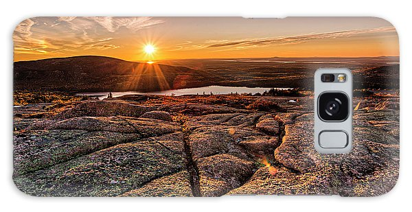Sunset On Cadillac Mountain Galaxy Case