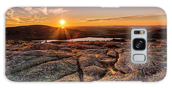 Sunset On Cadillac Mountain Galaxy Case
