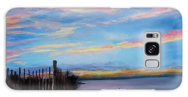 Sunset On Cape Cod Bay Galaxy Case